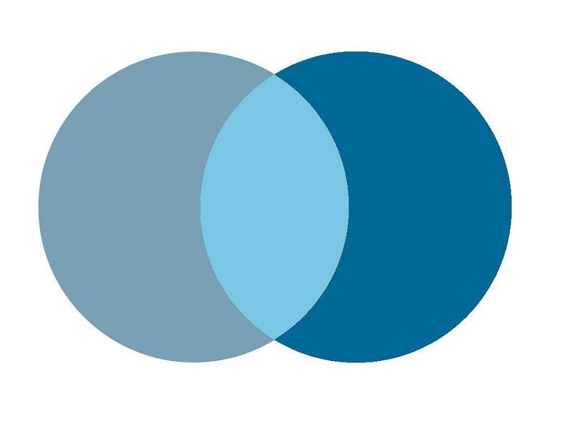 blank venn diagram blue