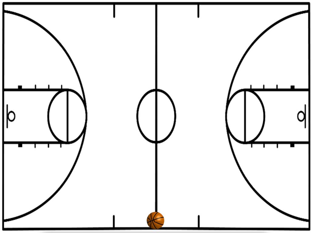 basketball court diagram simple