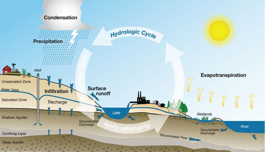 diagram of water cycle detailed
