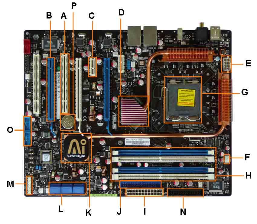 motherboard diagram unlabeled