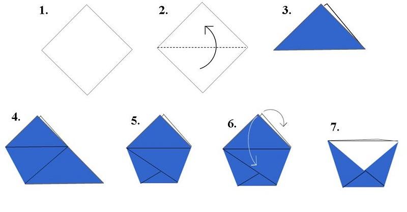 origami diagrams cup