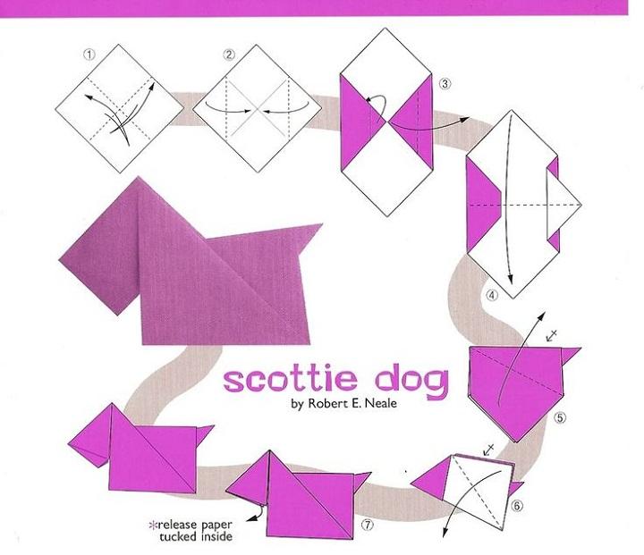 origami diagrams dog
