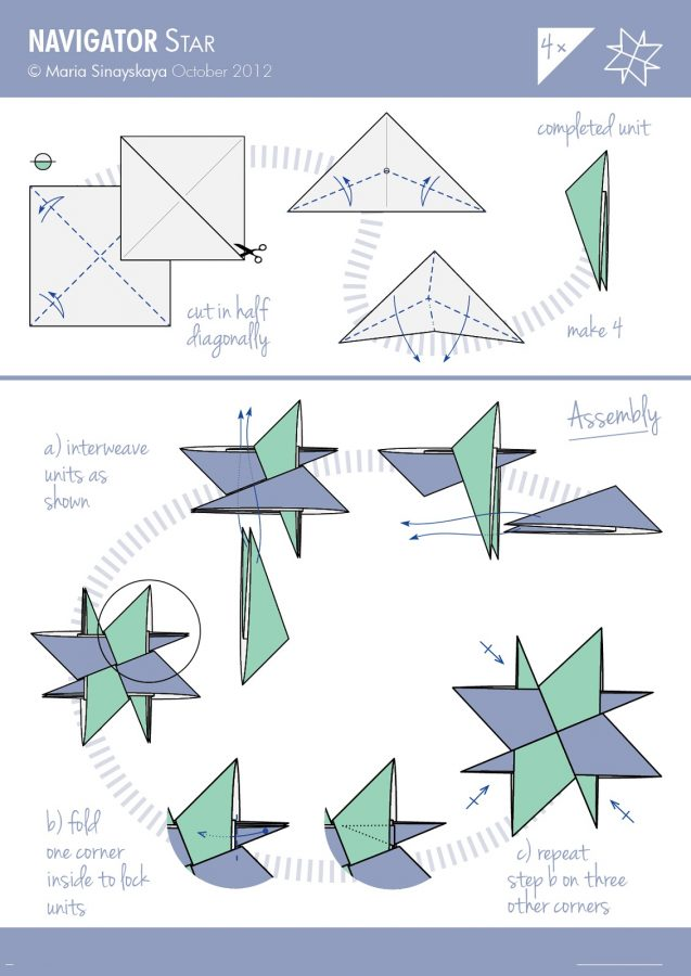origami diagrams star