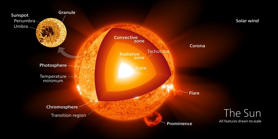 sun diagram structure