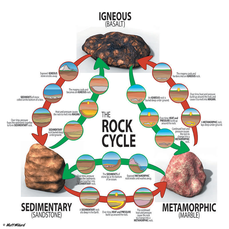 the rock cycle diagram sediment