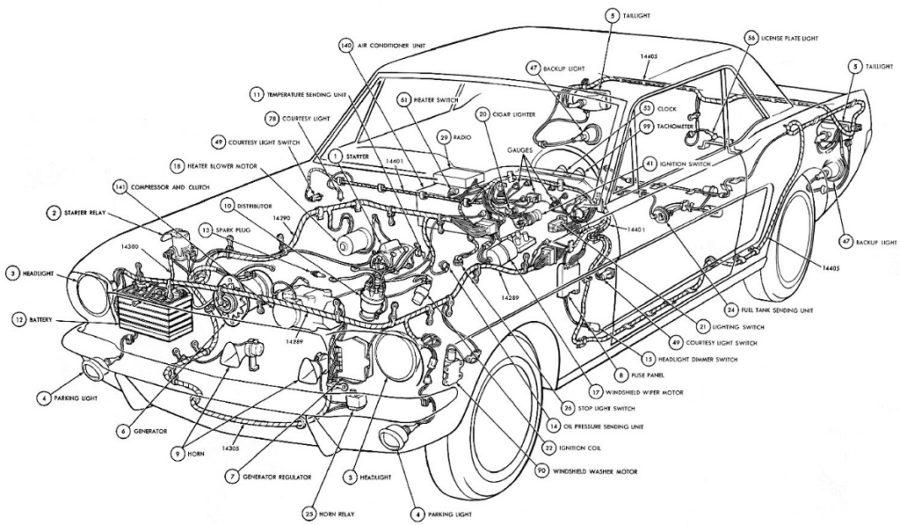 car parts diagram detailed