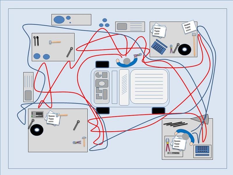 spaghetti diagram vector