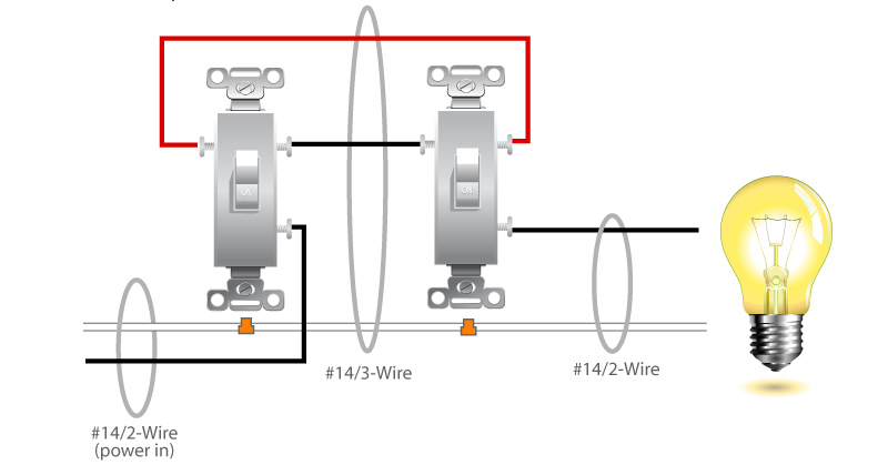 3 way switch diagram electrical