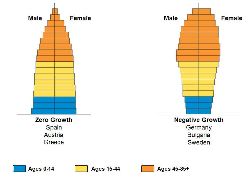 age structure diagram zero
