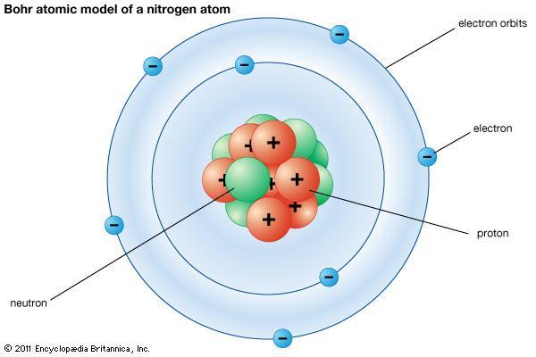 bohr diagram nitrogen