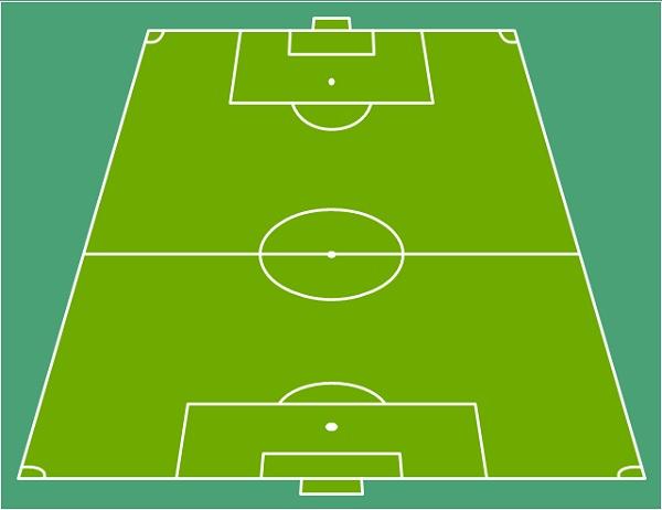 soccer field diagram unlabeled