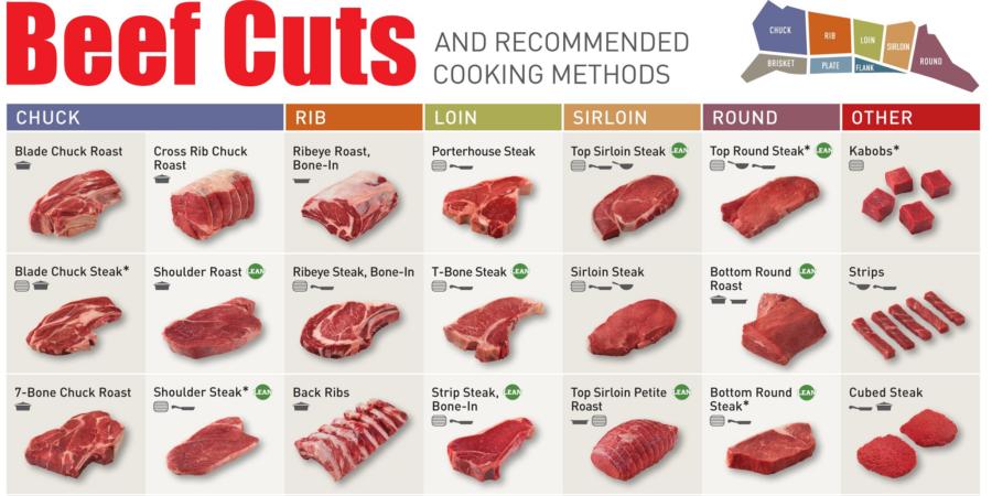 beef diagram cuts