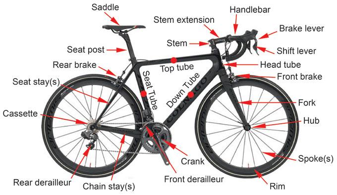 bicycle diagram mountain