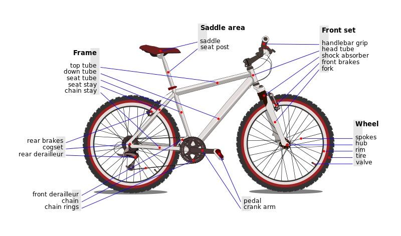 bicycle diagram parts