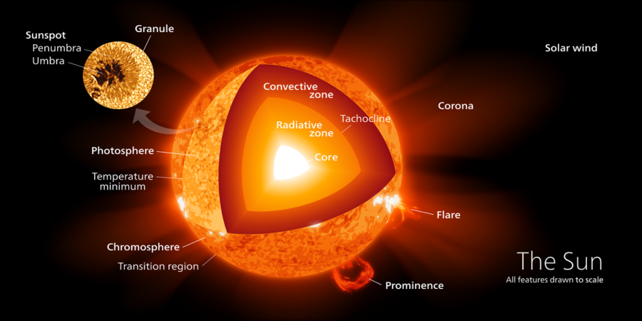 diagram of the sun image