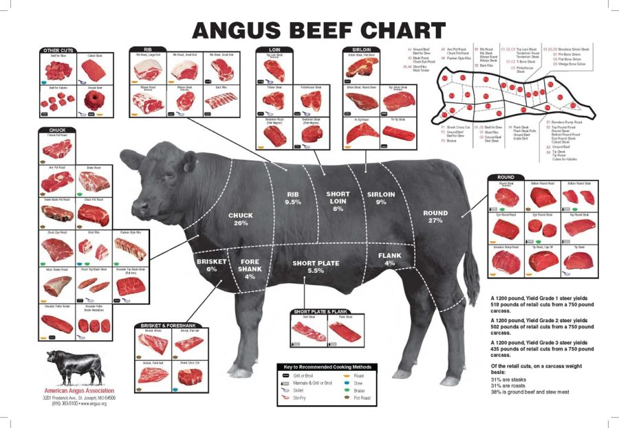 cuts of beef diagram detail