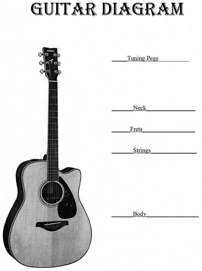 Guitar Parts Diagrams