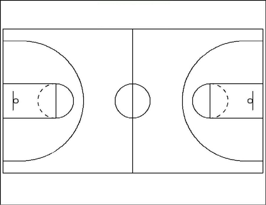 basketball court diagrams simple