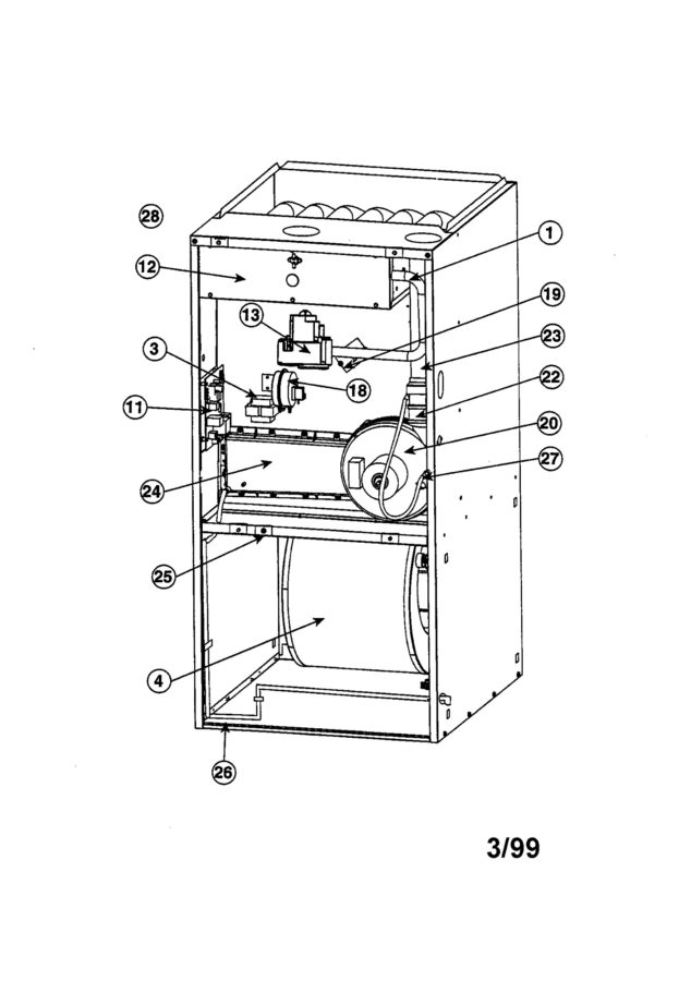 furnace diagram unlabeled