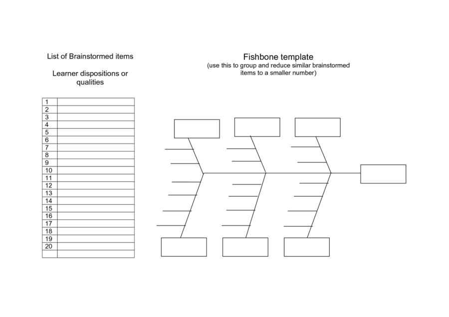 Ishikawa Diagram Template Word2