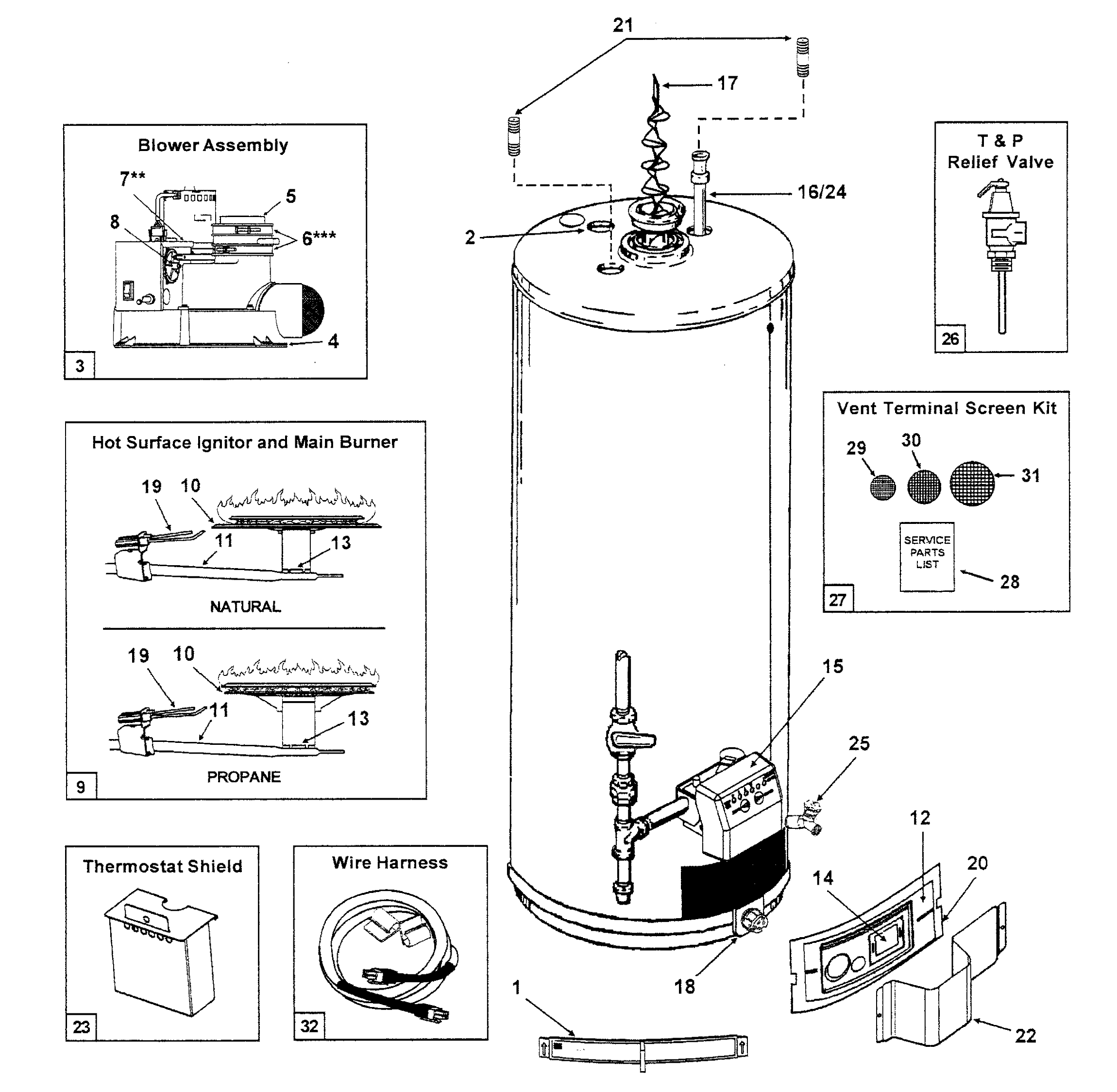 Water Heater Diagrams