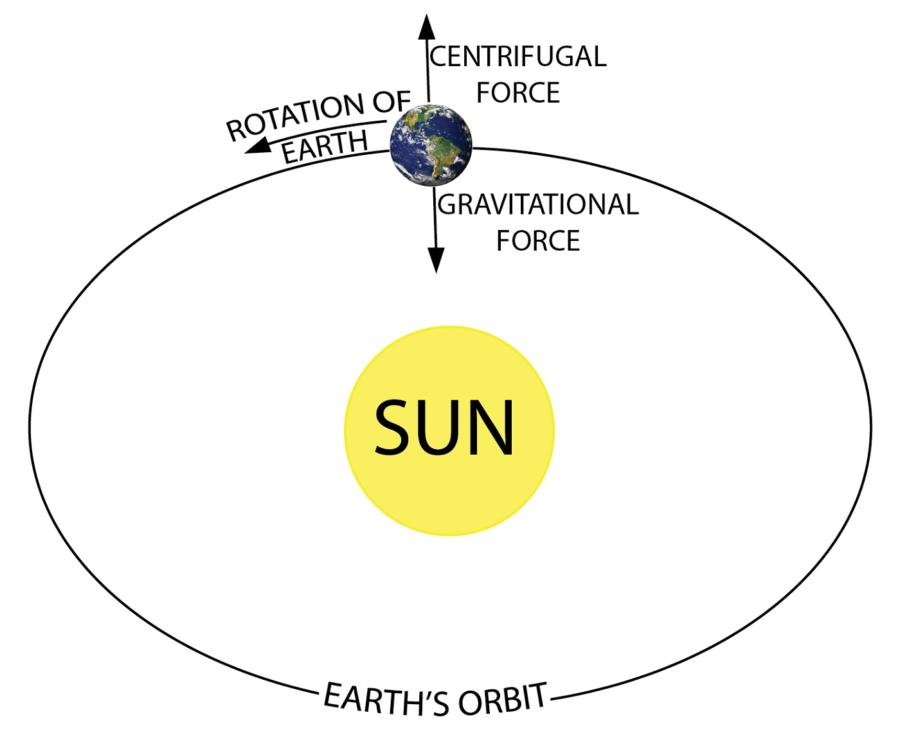 Gravitational Force Diagram