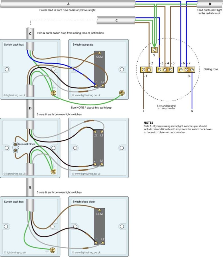 4 Way Switch Diagram With Light