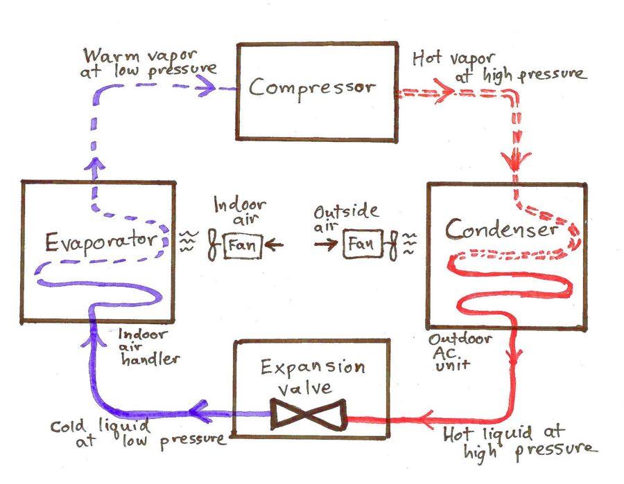 Ammonia Refrigeration Cycle TS Diagram