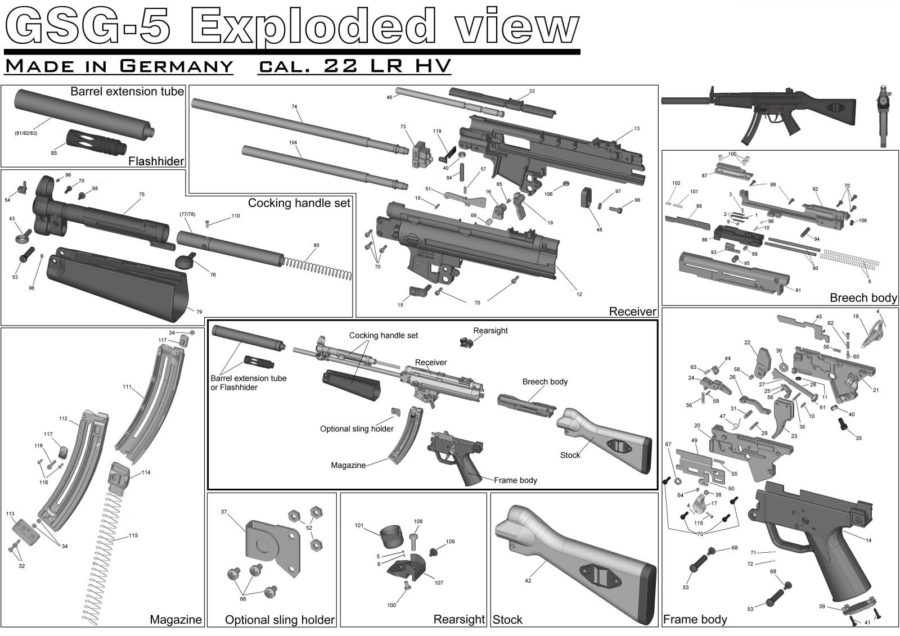 Exploded AR-15 Parts Diagram