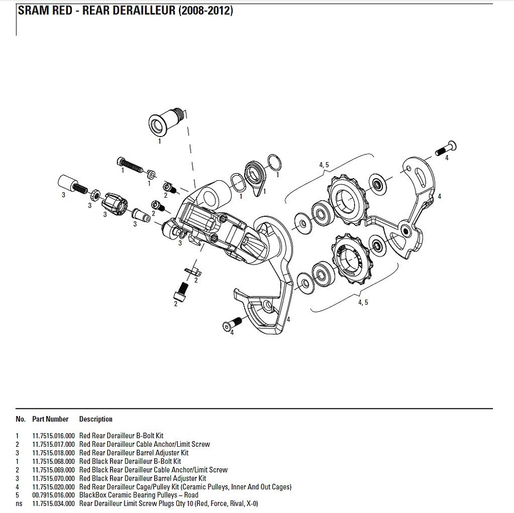 Derailleur Bike Parts Diagram