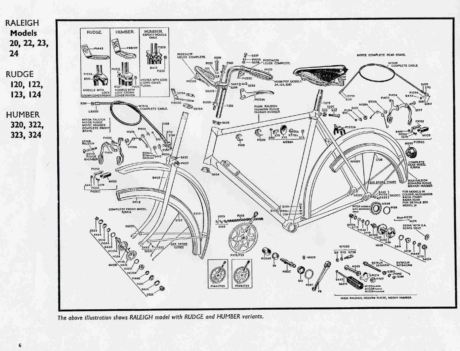 Raleigh Bicycle Diagram