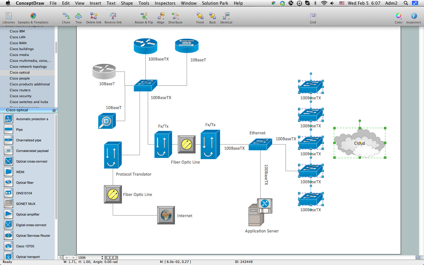 Visio Cloud Diagram