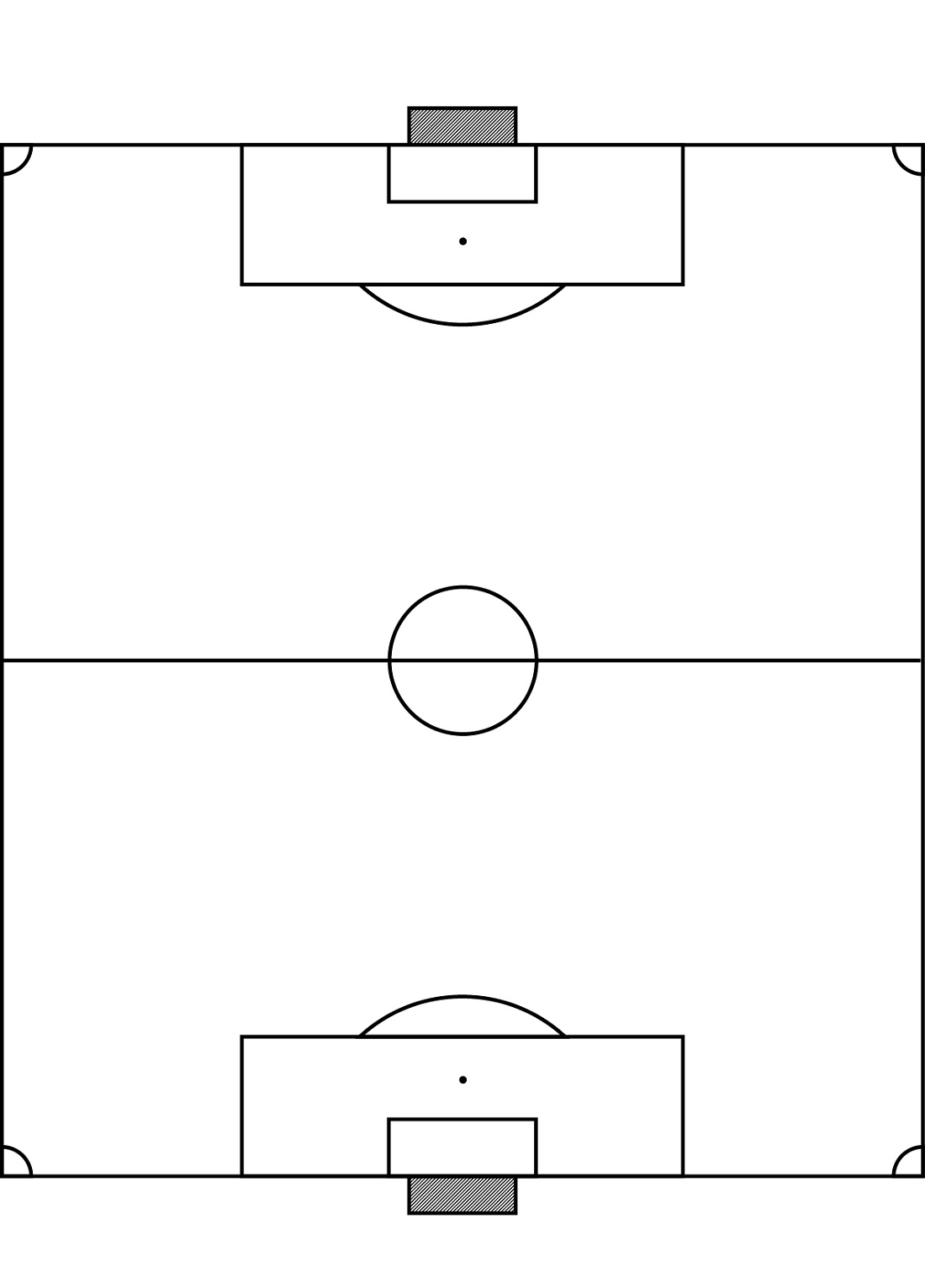 Football Field Diagram Blank