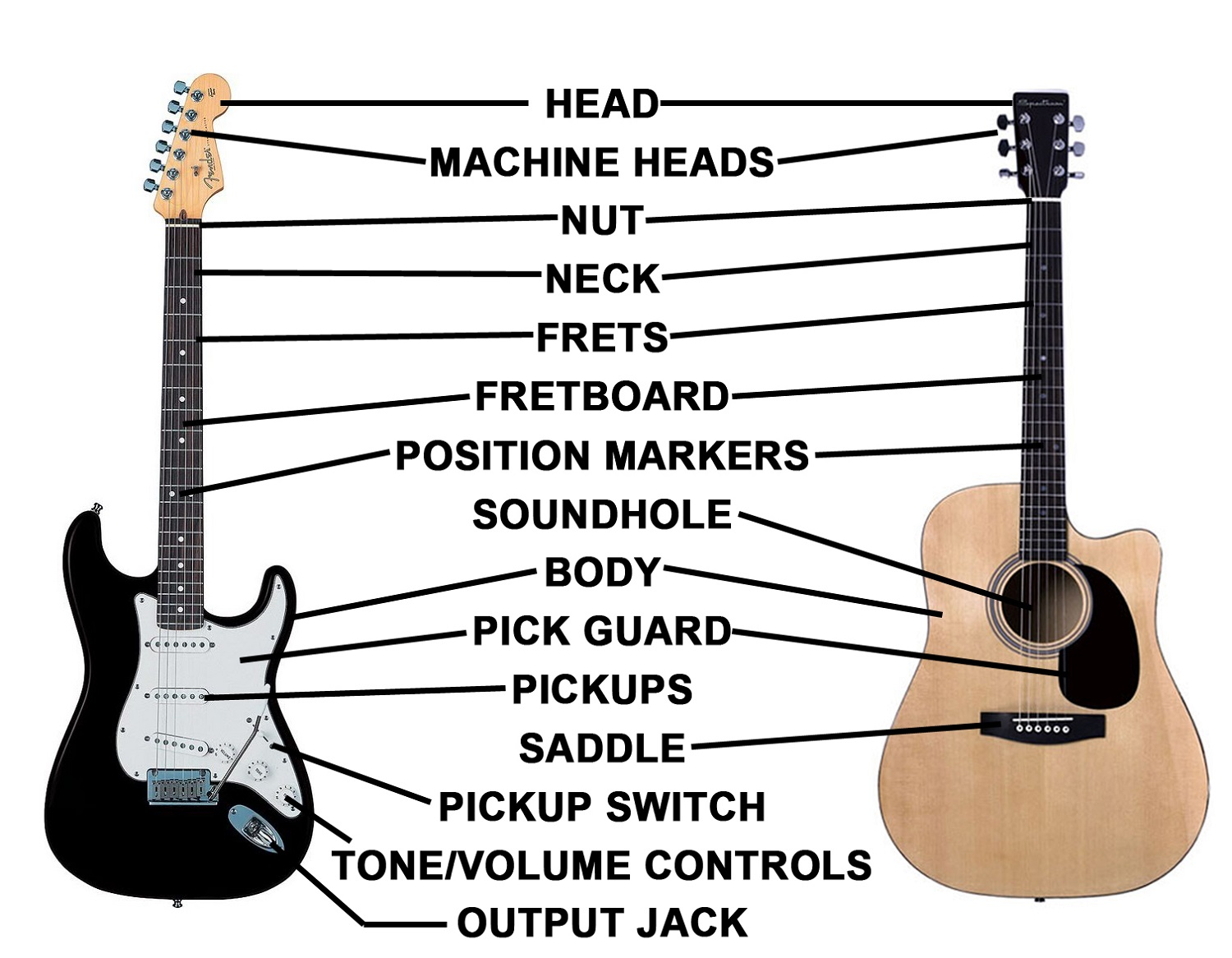 Electric Guitar Diagram